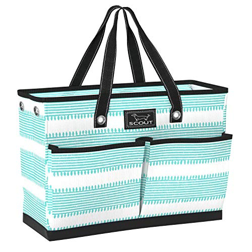 SCOUT BJ Bag, Large Tote Bag for Women with 4 Exterior Pockets and Interior Zippered Compartment, Perfect Utility Tote Bag with Pockets for Teachers and Nurses (Multiple Patterns Available)