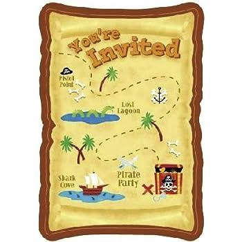 amazon com kids pirate birthday party invitations for boys 20