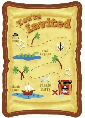 Pirate Party Invitations (Package of 8 (Pirate Invitations)