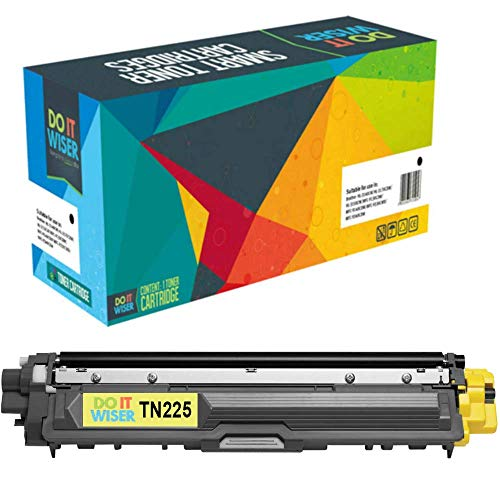 (Do it Wiser Compatible Toner Cartridge Replacement for Brother TN221 TN225 to use with HL-3170CDW MFC-9340CDW MFC-9130CW MFC-9330CDW HL-3140CW HL-3180 (Yellow))