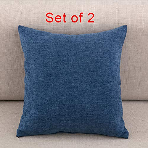 JOSMACO Soft Cotton Solid Decorative Throw Pillow
