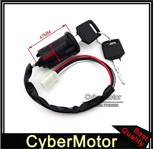 4 Wire On Off Kill Start Ignition Key Switch For Chinese Moped Scooter 4 Wheeler Quad ATV Go Kart Pit Dirt Bike Motorcycle
