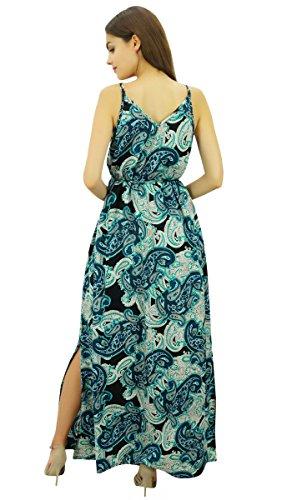 Side Robes Avec Dori Holiday Wear Slit Maxi Bimba Strappy Robe Femmes Bleu Ceinture dCxorBeW