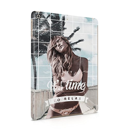 Hey It's Time To Relax Sexy Naked Blonde Girl On Beach Plastic Tablet Snap On Back Cover Shell For iPad - Cali Gurls