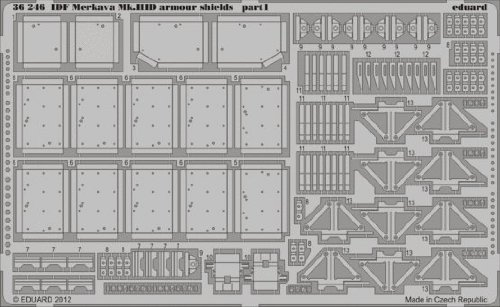 Photoetch 1:35 - Idf Merkava Mk.iii Armour Shields (meng) - (edp) - Eduard 36246