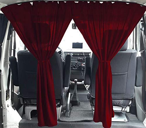 VW T3 T4 Multivan Transporter Caravelle Ma/ß Gardinen Fahrerhaus Abtrennung Farbe Weinrot
