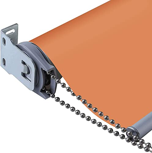 PASSENGER PIGEON Thermal Insulated 100 Blackout Waterproof Fabric Custom Window Roller Shades Blinds,62 W x 84 L,Orange