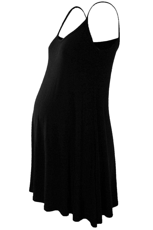 Einfarbig schwarz Janisramone Damen Kleid Einheitsgr/ö/ße