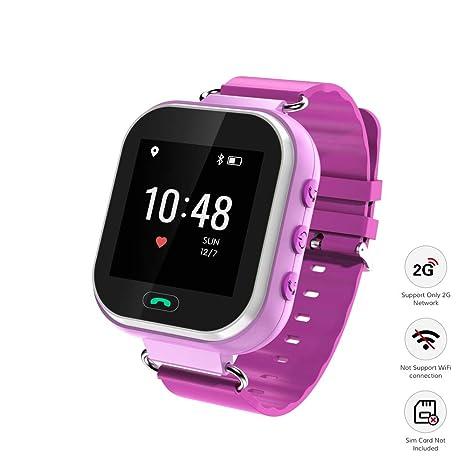 Amazon.com: Wonbo - Reloj inteligente para niños, reloj GPS ...