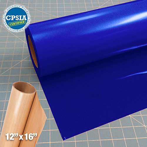 Siser Easyweed Royal Blue Heat Transfer Craft Vinyl Roll (50ft x 15'' Bulk w/ Teflon roll) by Siser