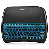 ANEWKODI Wireless Mini Keyboard with Mouse Combination Touchpad, 2019 New Upgraded Rechargeable Multimedia