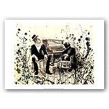 "Tom Waits by Lora Zombie 16""x12"" Art Print Poster"
