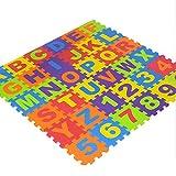 Per Newly 36 Pcs Pop Out Puzzle Mat Baby Interlocking Soft Foam Floor Mats Floor Tiles Children Play Mat Set Baby Crawling Mats With Alphabets Numbers