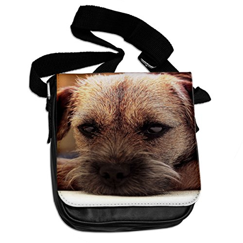 Border Terrier Cane Animale Borsa A Tracolla 045