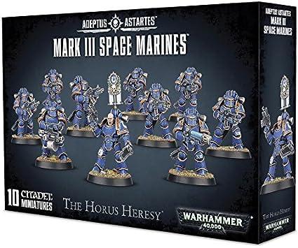 10 marines Warhammer 30k Horus Heresy MKIV Tactical Marines 2 x Squad