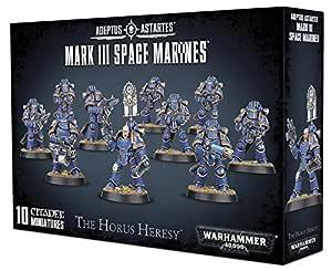 Warhammer 40K 40000 Adeptus Astartes The Horus Heresy Mark III Space Marines (10 Miniatures)
