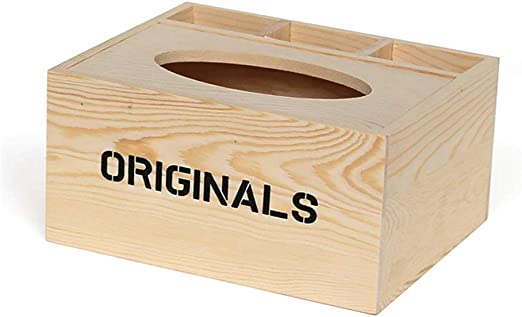 caja de pañuelos de Madera Mesa de Centro Creativa Multifuncional ...