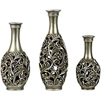 stealstreet ss dd sv15 lucrezia collection three vase set centerpiece - Home Decor Vases
