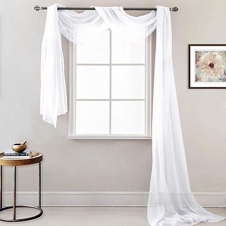 Chambre d/'enfant rideau à passants écharpe set Animal Motif Blanc