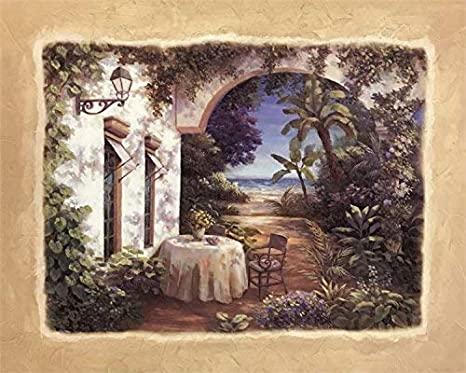 Patio Escape I By Vivian Flasch 22x28 Inch Art Print Poster Posters Prints