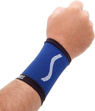 STADIUM - Muñequera, Azul, M, para compresion ideal para gym ...