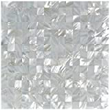 Art3d Mother of Pearl Oyster White Mini Square 12