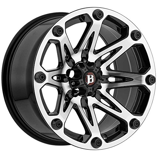 Ballistic 814 Jester 18x9 5x114.3 +12mm Black/Machined Wheel