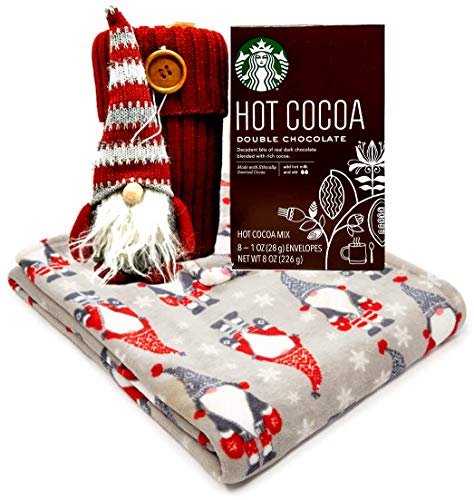 All You Need Is A Gnome Lovers Fleece Throw Gnome Ornament Travel Mug and Starbucks Cocoa Gift Set (Double Chocolate)]()