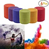 Smoke Cake Colorful Effect Photography Props Toy 6 Pcs 6 Colors