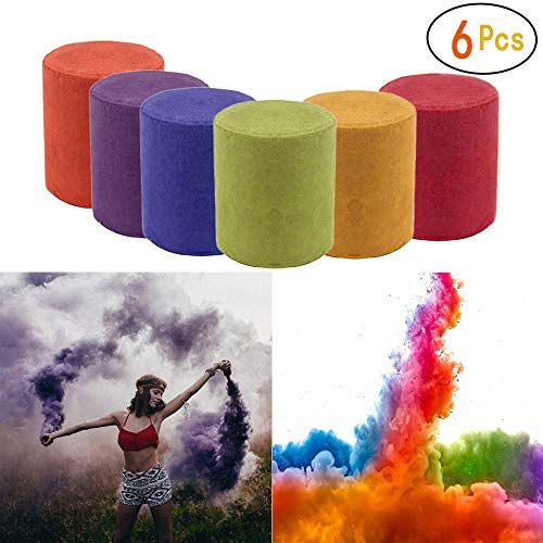 Smoke Cake Colorful Effect Photography Props Toy 6 Pcs 6 Colors by WPU