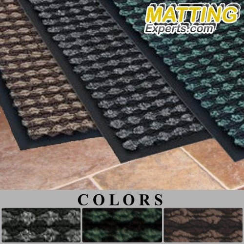 MattingExperts Entrance Runner Water Absorbing Carpet-like Rug Checkered Surface Floor Mat 3/8 thick for Entryways Lobbies Hallways Hotel Office S071 (3'x6', Brown)