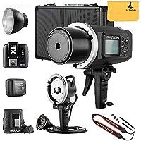 GODOX AD600BM AD sync 1 / 8000s 2.4G wireless Flash Light Speedlite,GODOX X1T-S,AD-H600B Head,PB-600 Bag,CB-09 Suitcase Carry Bag,LETWING Camera Neck Strap
