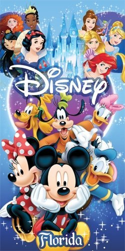 Beach Disney Towel - Disney Spectacular All Cast Beach Towel