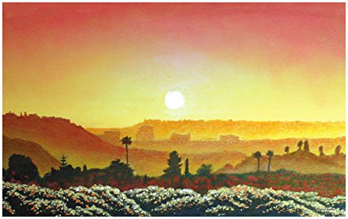 Mission Valley Sunset Travel Art Print Poster by David Linton (24