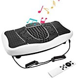 Evokem Hurtle Vibrating Platform Exercise Machines as Equipment For Home to Balance Your Weight with Remote Controller & Balance Straps [ARRIVE in 3-7 DAYS] (White)