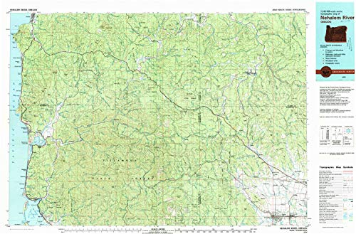 Cap State Pittsburg (YellowMaps Nehalem River OR topo map, 1:100000 Scale, 30 X 60 Minute, Historical, 1979, Updated 1980, 24.1 x 36.7 in - Polypropylene)