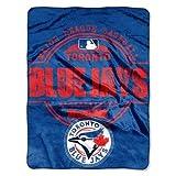 "MLB Toronto Blue Jays ""Structure"" Micro Raschel Throw Blanket, 46"" x 60"""
