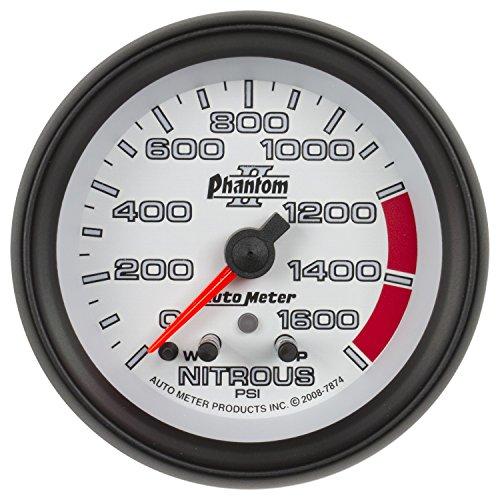 Electric Pressure Nitrous Gauge - Auto Meter 7874 Phantom II 2-5/8
