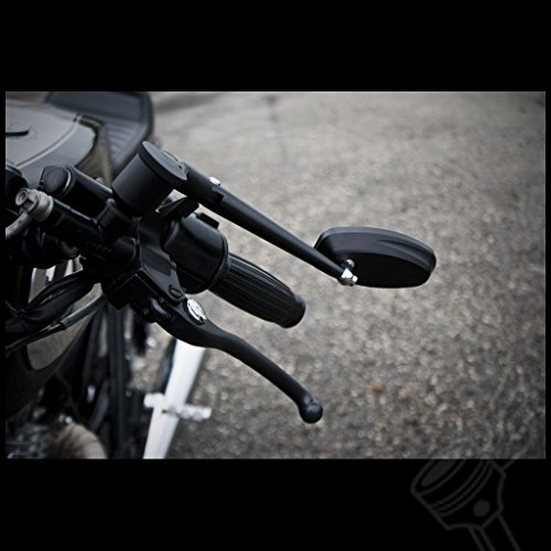 Universal 4'' Black Rotating Adjustable Long stem Aluminum Motorcycle Mirror by DCC Originals (Image #4)