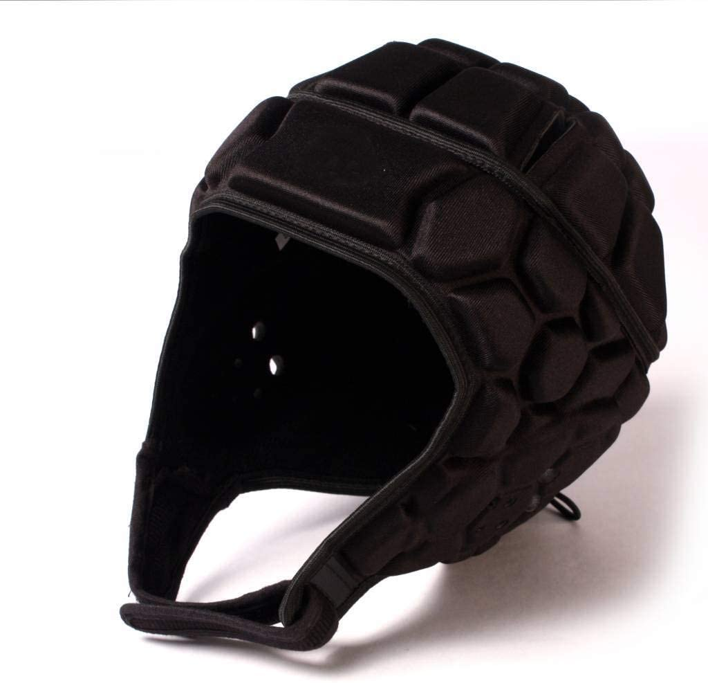 BARNETT Heat Pro Helmet Black M - Soft Padded Headgear - Rugby -Flag Football -7v7 Soft Shell