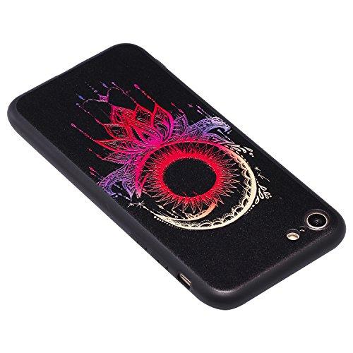 Coque iPhone 8 3D Carillones de viento solar Premium Gel TPU Souple Silicone Protection Housse Arrière Étui Pour Apple iPhone 8 + Deux cadeau