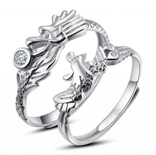 Infinite U 925 Sterling Silver Zirconia Anniversary Drago...
