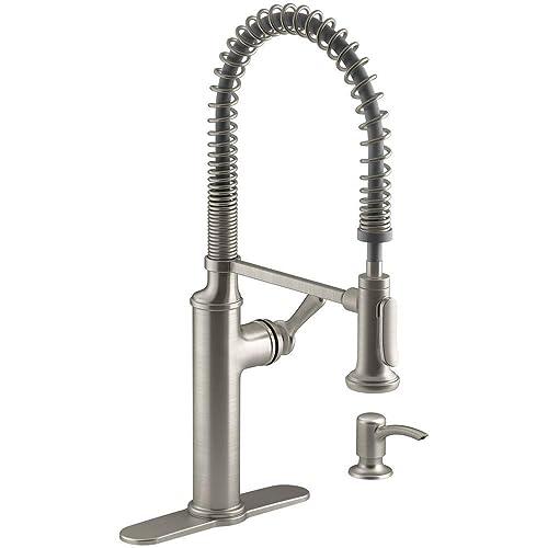 Kohler K-R10651-SD-VS Sous Kitchen Sink Faucet, Vibrant Stainless