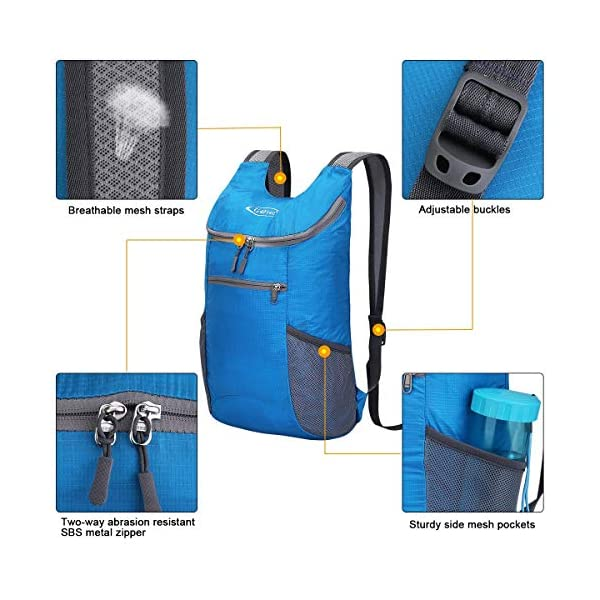 G4Free Ultra Lightweight Small Rucksack Foldable Backpack Packable Rucksack 11L