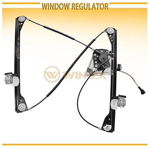 WIN-2X New 1pc Front Driver Left Side Power Window Regulator With Motor Assembly Fit 01-05 Pontiac Aztek 02-07 Buick Rendezvous (Window Motor Buick Rendezvous)