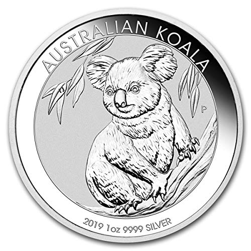 (2019 AU Australian Koala Coin from the Perth Mint One Ounce .999 Fine Silver Dollar Uncirculated Mint)