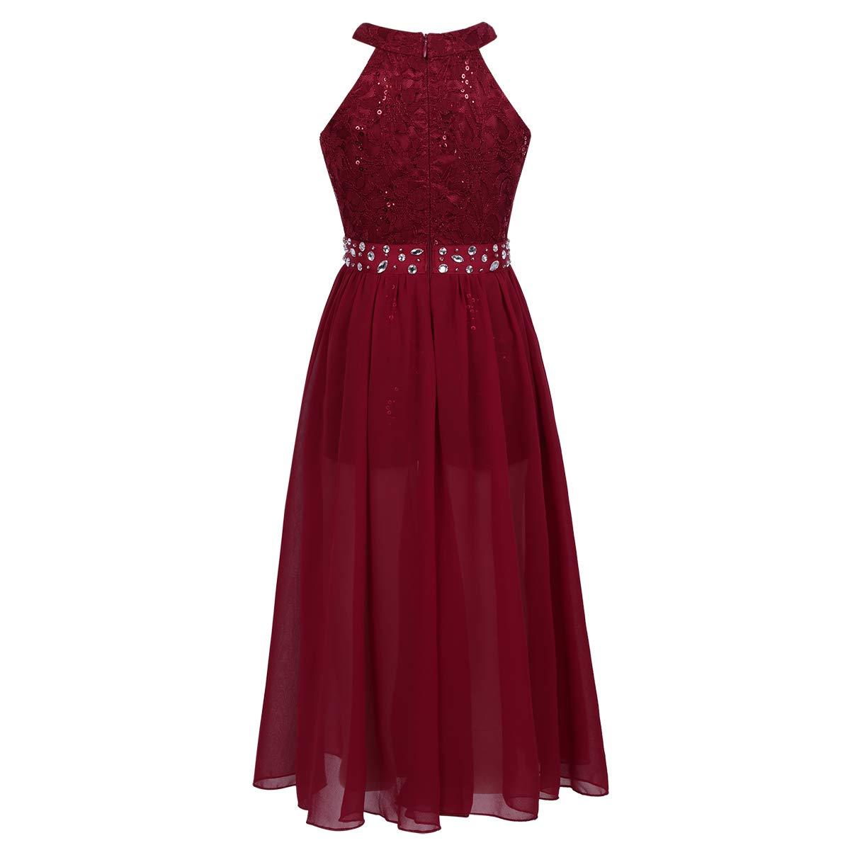 4547d51e48908 Freebily Robe Princesse Enfant Fille Robe de Mariage Cérémonie Robe de  Demoiselle dhonneur Paillettes Robe de ...