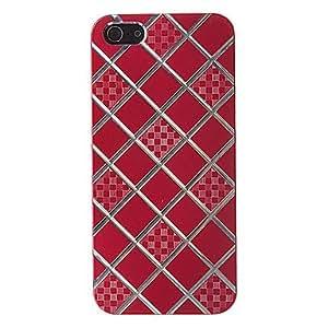 compra Modelo cuadrado cepillado del estuche rígido para el iPhone 5/5S Plating , Color Plata