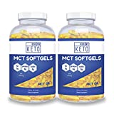 Kiss My Keto MCT Oil Capsules - Coconut Oil Softgel Pills, 300 Count, MCT Pills, Best MCT Oil Keto Ketogenic Diet. Caprylic Acid C8 & C10 Medium Chain Triglycerides Diet Keto Supplement (2 Pack)