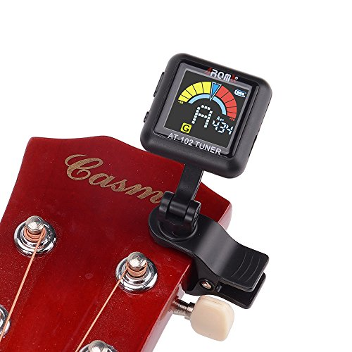Aroma   At 102 At 102 Rechargeable A4 430Hz  450Hz 360 Degree Rotation Electronic Tuner For Chromatic Guitar Bass Violin Ukulele